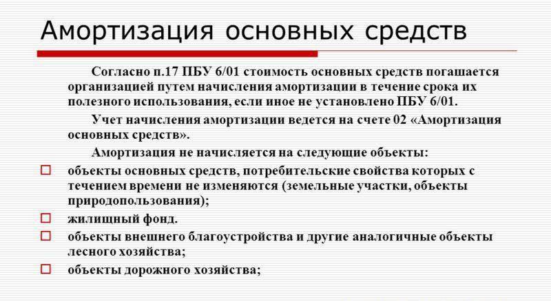 Амортизация основных средств.