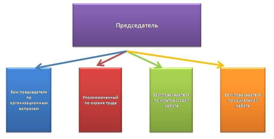 Структура профсоюзной организации.